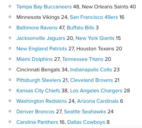 NFL Scores Week 1 2018